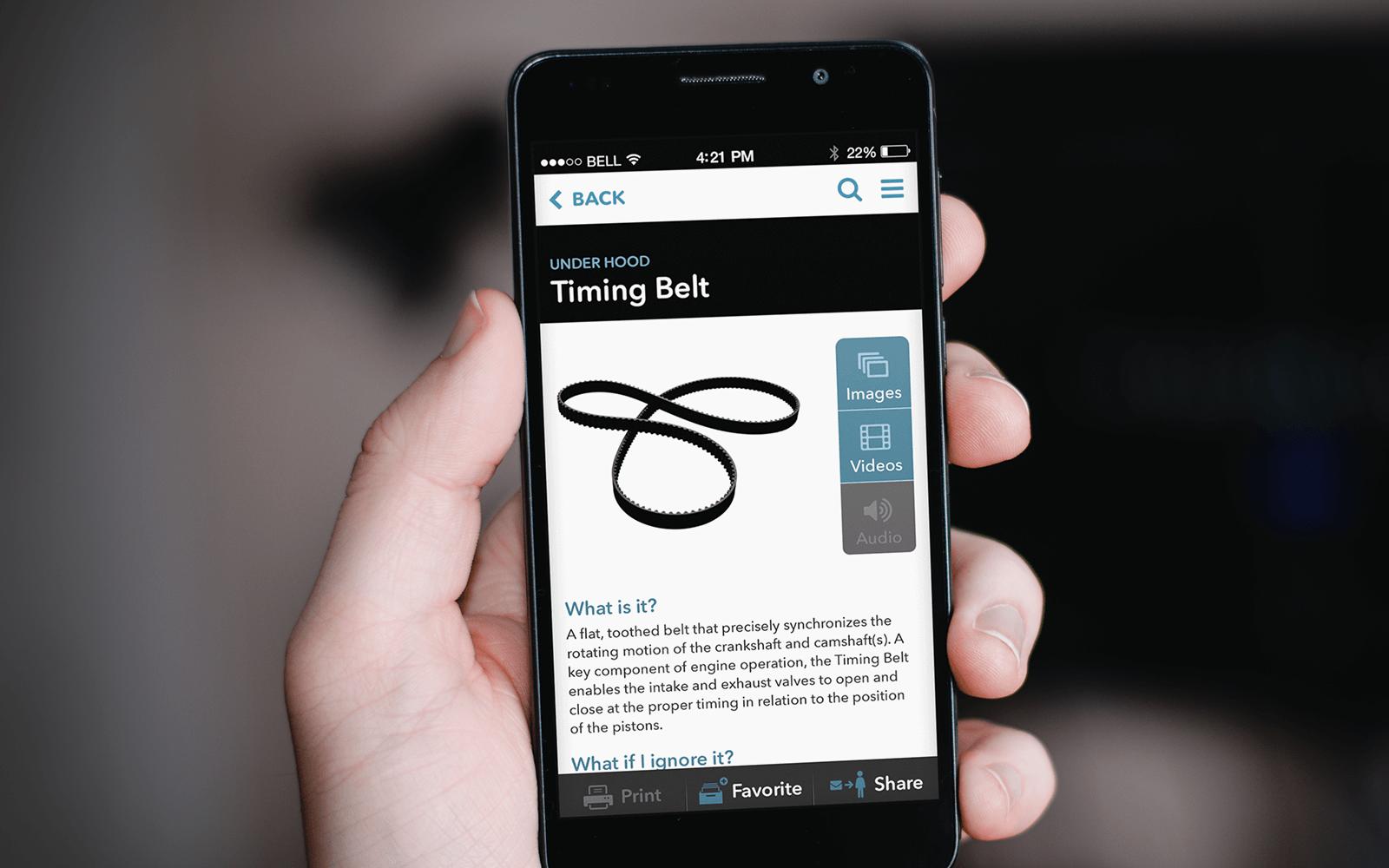 Timing belt detail page