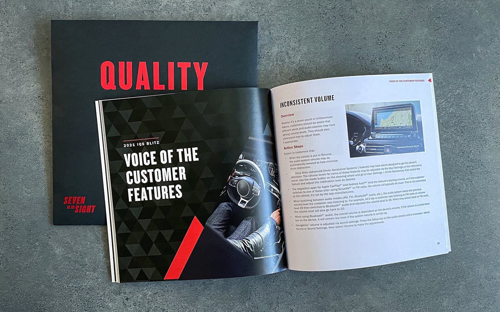 Interior spread from 'Quality Book'