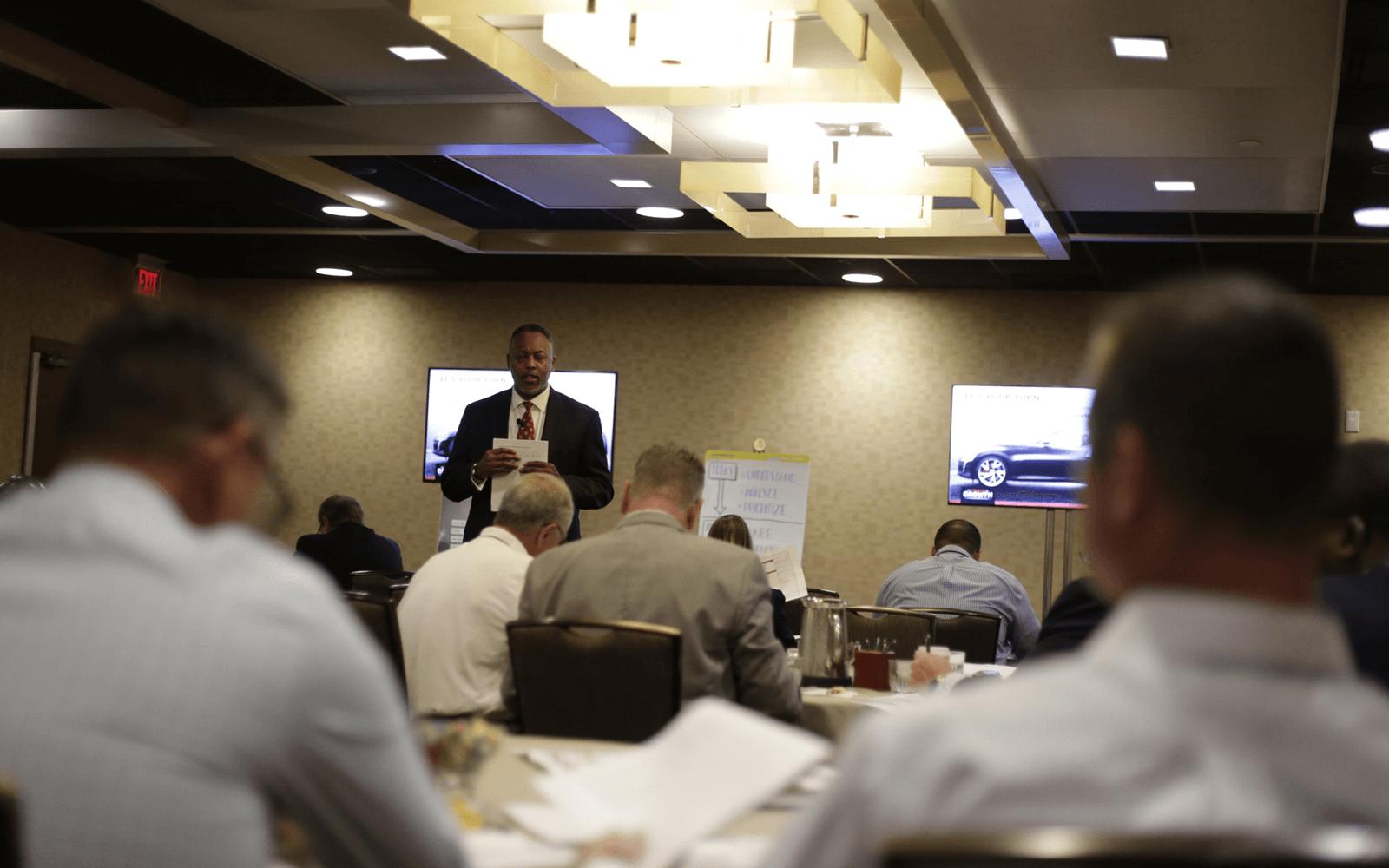 Lead facilitator conducting learning workshop