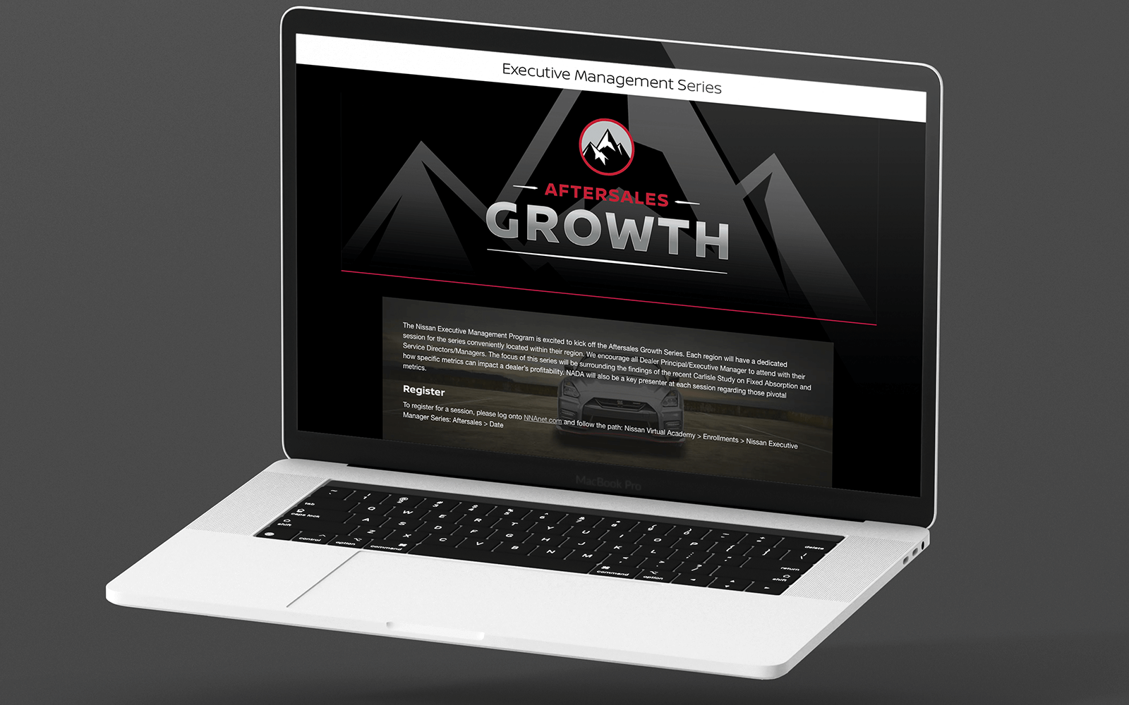 Custom website to raise awareness and promote series
