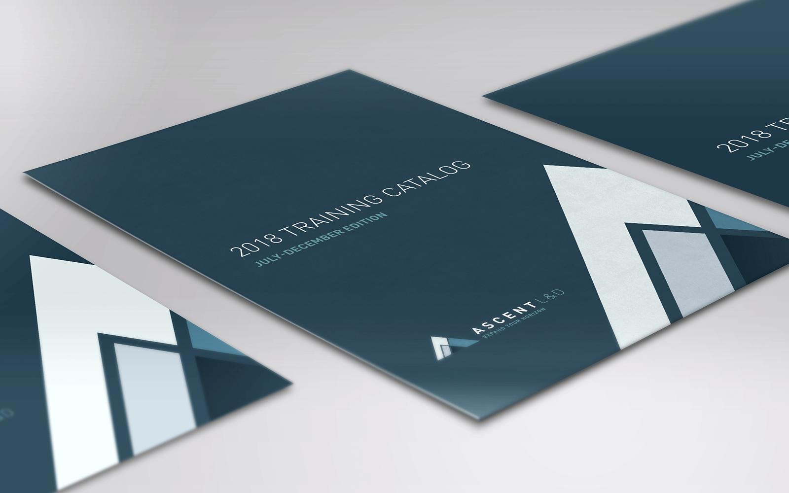 Training catalog cover design