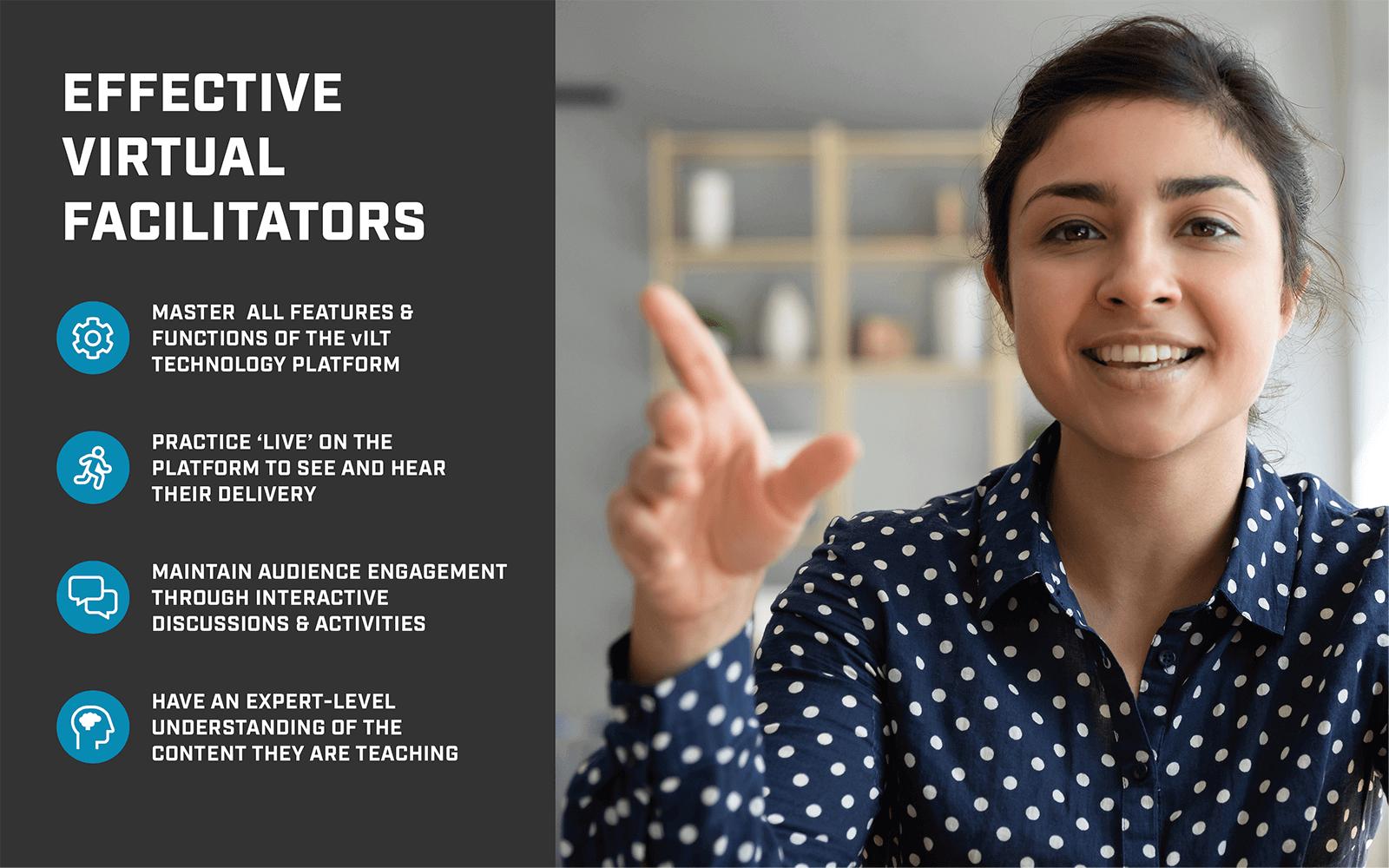 Qualities of effective virtual facilitators