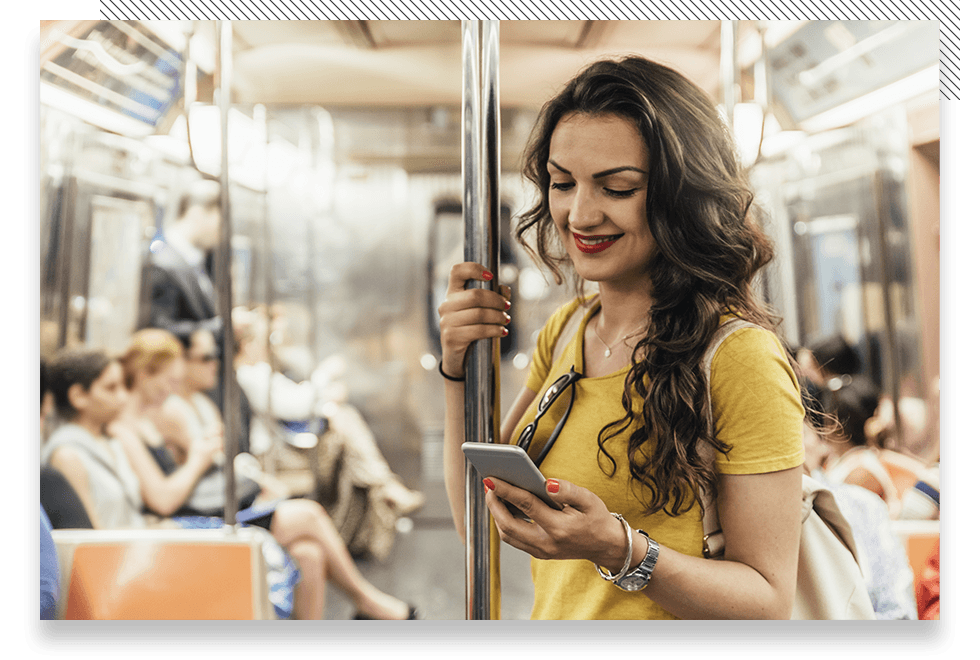woman-with-phone-on-train